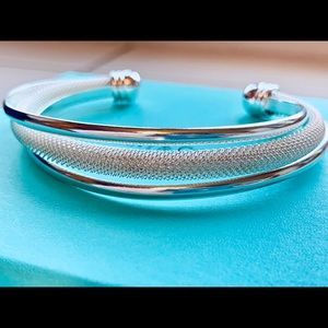 🎀SOLD🎀Tiffany & Co. Silver Twist Mesh Bracelet